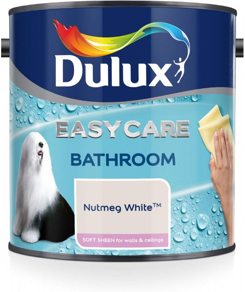 Dulux Easycare Bathroom Soft Sheen Emulsion - Nutmeg White